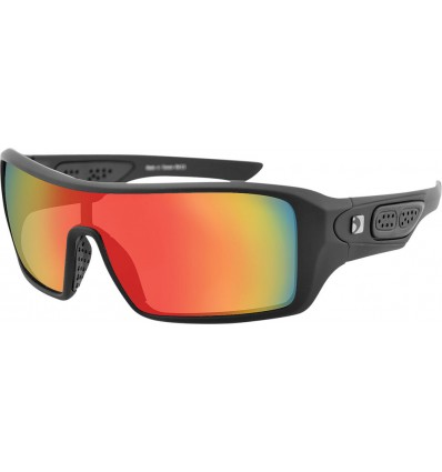 Bobster Paragon Matte Black Sunglass with Mirrored Crimson Smoke