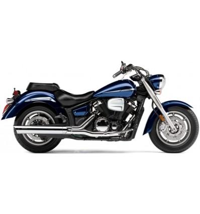"""Yamaha XVS1300 Midnight Star COBRA 4"""" SCALLOPED SLIP ON MUFFLERS CHROME"""