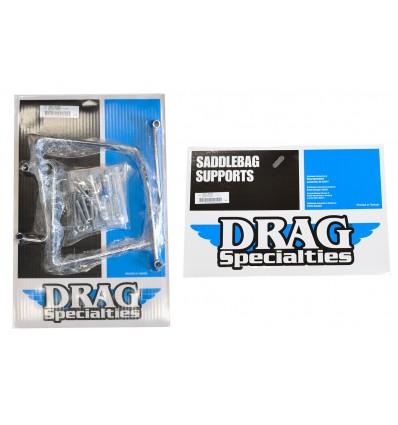 Drag Specialties Dyna Chrome Saddlebag Support Brackets