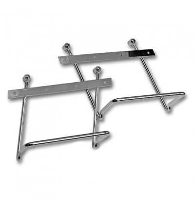 Harley Davidson Dyna (2006-on) Chrome Saddlebag pannier support brackets kit