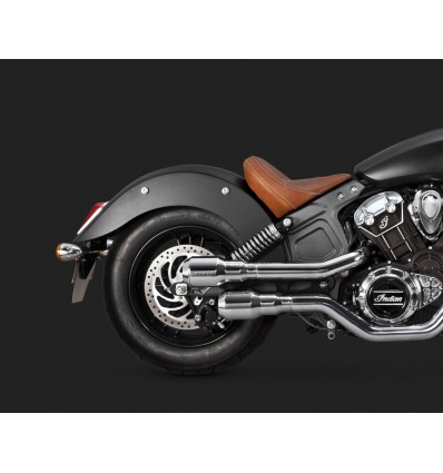 Indian Scout Vance & Hines Chrome Hi-Output Grenades 2-into-2 Exhaust System