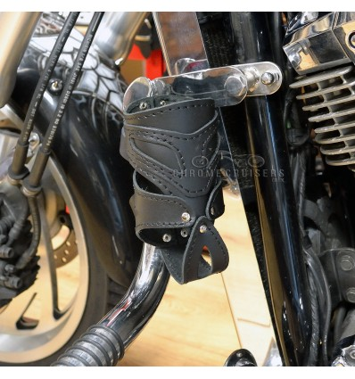 Motorcycle Leather Drink / Bottle Holder - N6A