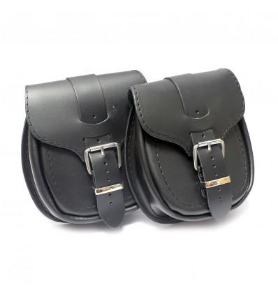 Motorcycle leather pouch - plain (Ki3A)
