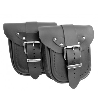 Motorcycle leather pouch - plain (Ki1A)