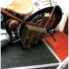 Harley Davidson Softail Braided Brown Rear Leather Bag