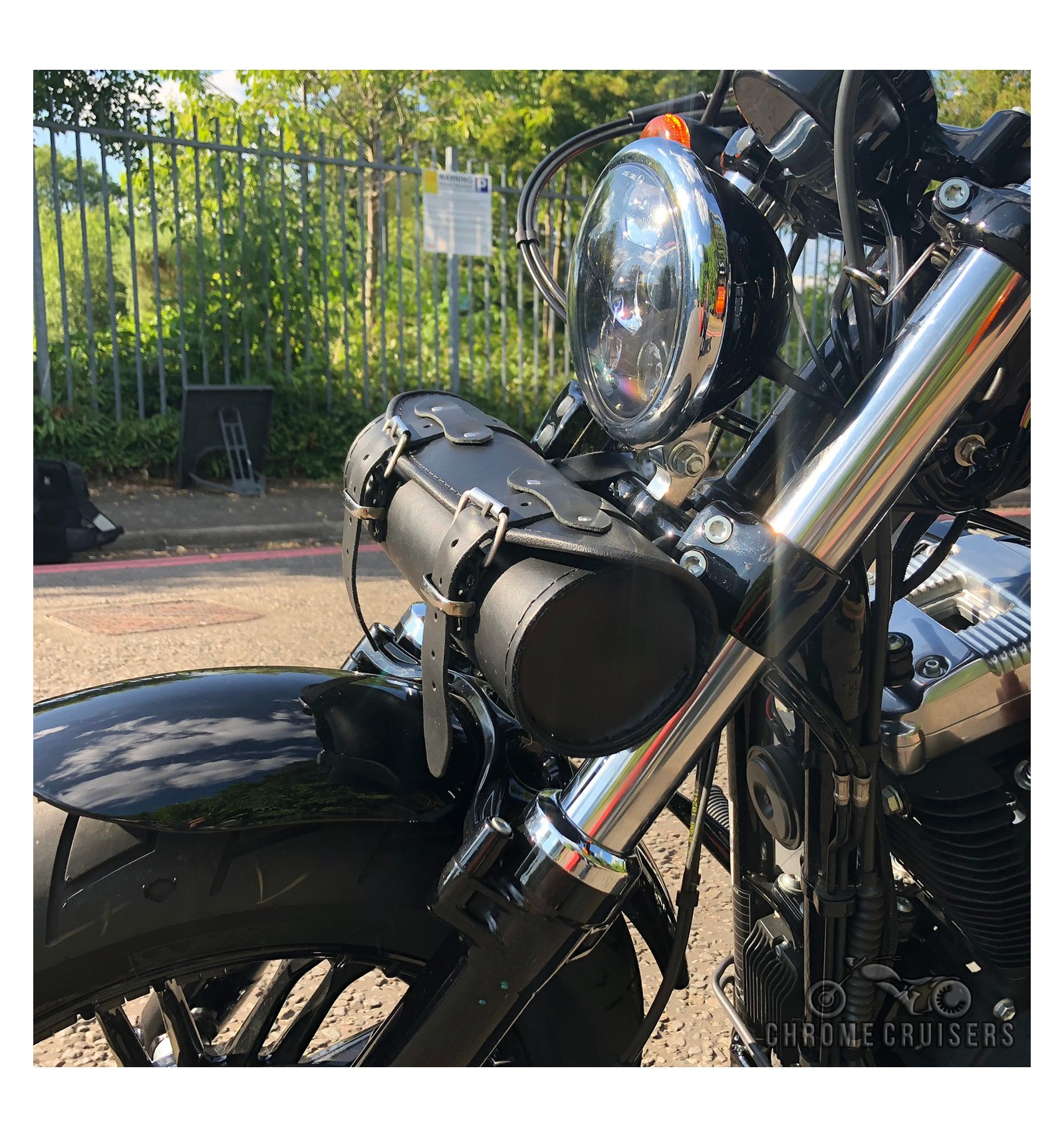 MOTORCYCLE LEATHER TOOL ROLL SADDLE BAG HONDA VTX 1300 VTX 1800 VT600 C2 SHADOW