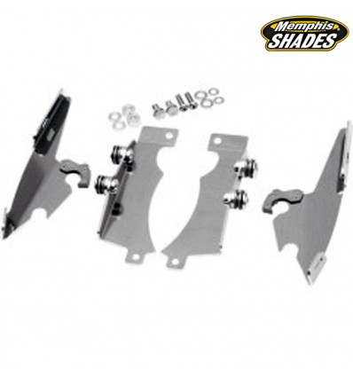 Yamaha XVS950 / XVS1300 V-Star Mounting Kit Trigger-Lock Memphis Shades Fats/Slim Polished