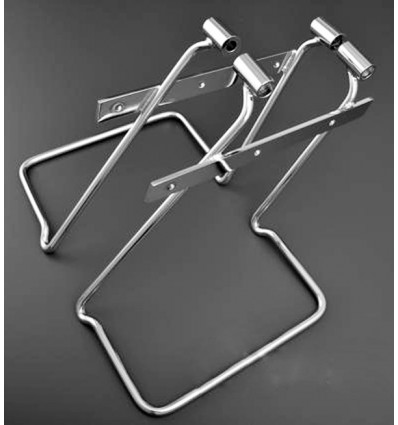 Honda VT750 DC / Black Widow (2001-2007) Chrome Saddlebag Support Brackets