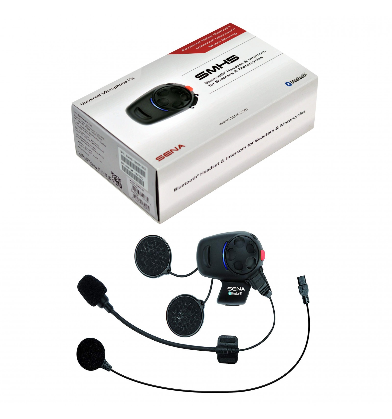 SMH5 / SMH5-FM Bluetooth® Headsets & Intercom for Scooters & Motorcycles -  Single Unit