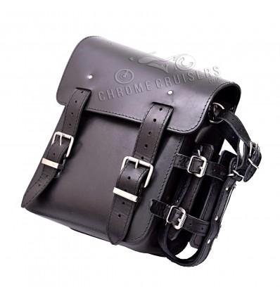 Harley Davidson Softail / Slim Real Leather Swingarm Saddle Bag Single Side Pannier