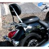 Yamaha XVS1300 Midnight Star - Passenger backrest / sissybar with luggage rack