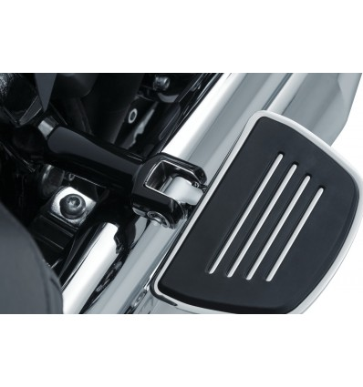 Harley Davidson Softail 2018-up models Kuryakyn Passenger (Rear) Mini Floorboards + Splined Adapters