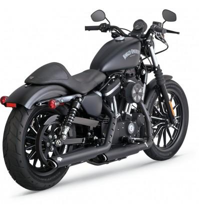Harley Davidson Sportster (2014-2019) VANCE HINES TWIN SLASH 3-INCH SLIP-ONS BLACK