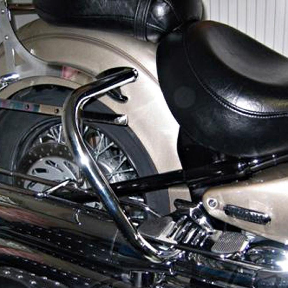Yamaha XV1600 WILDSTAR CHROM HINTEN Satteltasche Schutz Sturzbügel ...