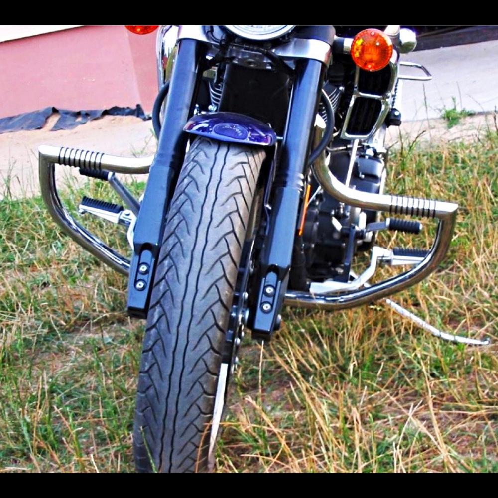 SP YAMAHA VIRAGO XV 1100 Autoroute crash Bar Garde moteur avec construit en pied chevilles