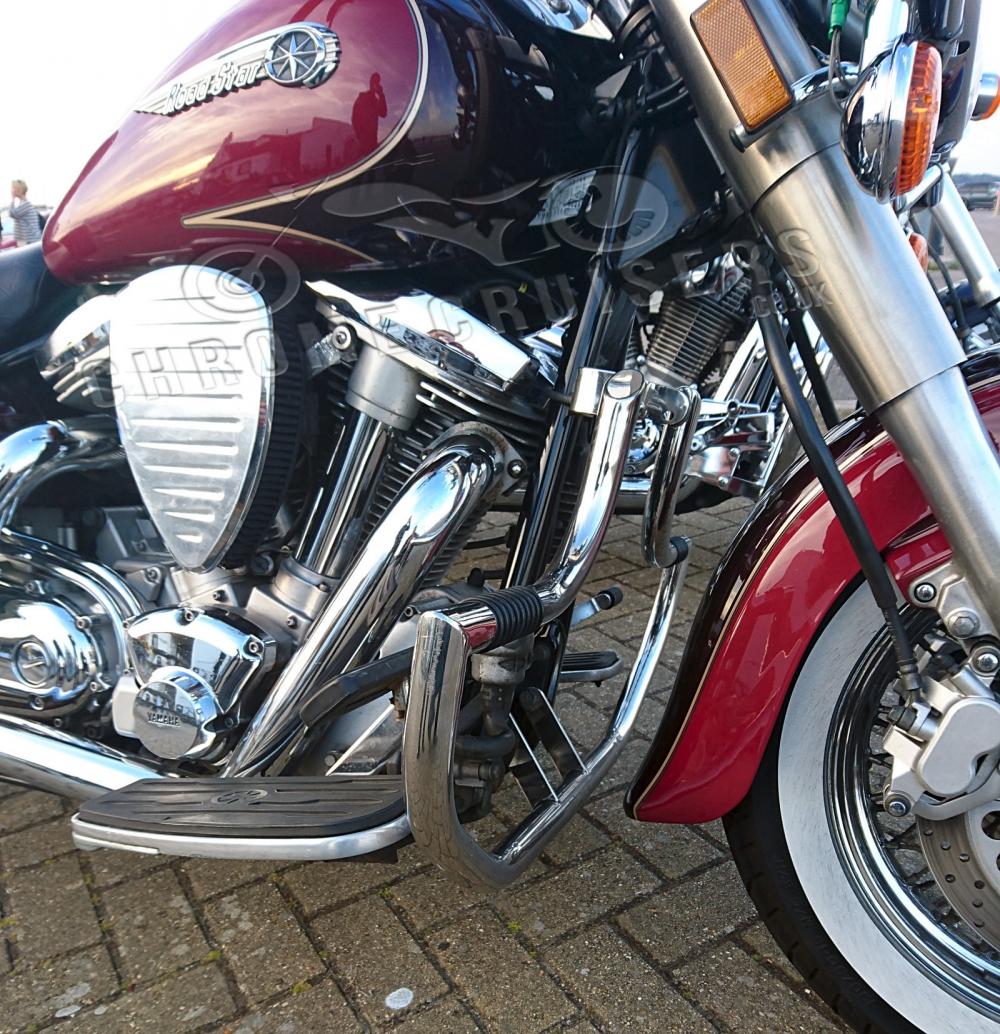 Mustache Engine Guard Highway bar fit 1998-2014 Yamaha Road Star XV1600 /& XV1700