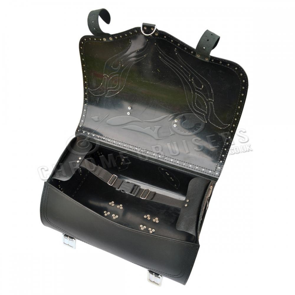 motorrad leder heck tasche top box satteltasche packtasche. Black Bedroom Furniture Sets. Home Design Ideas