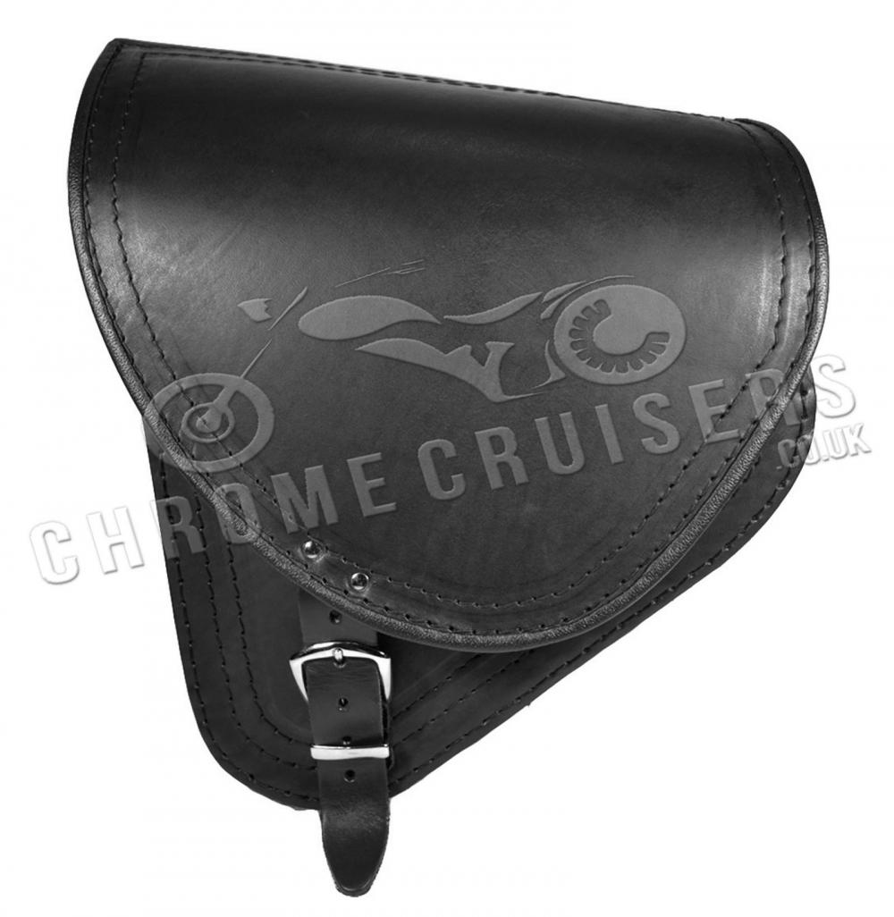 12 litro pelle bisaccia lato nero sinistra per Harley Davidson Dyna