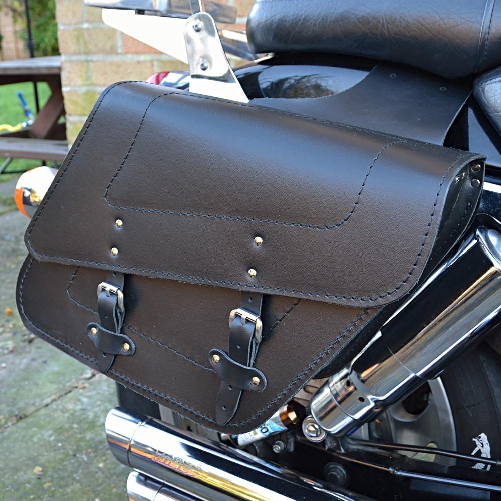 motorrad leder satteltaschen satteltasche honda vt125 600. Black Bedroom Furniture Sets. Home Design Ideas