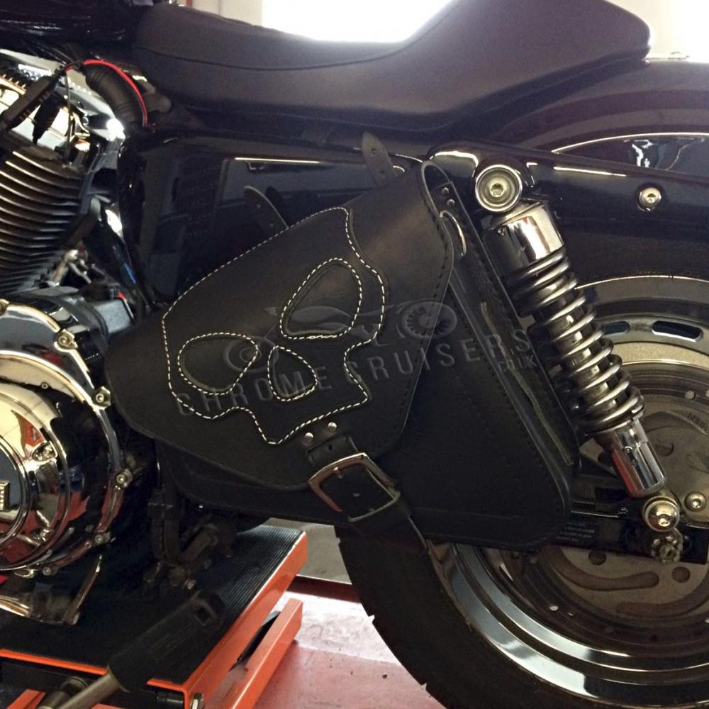 Harley Davidson Sportster XL Cuero Negro Izquierdo Solo Alforja ...