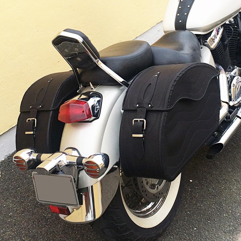 gummierung motorrad schwarz leder satteltaschen harley. Black Bedroom Furniture Sets. Home Design Ideas