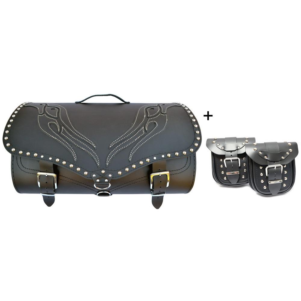 Saddlemen Express Drifter Motorcycle Back Seat //Sissy Bar//Trunk Bag Roll Pannier