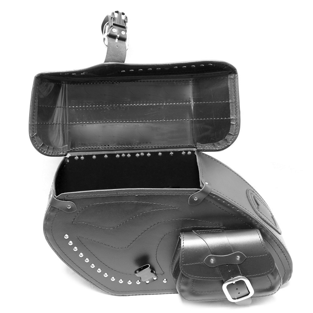 motorrad schwarz leder satteltaschen satteltasche kawasaki. Black Bedroom Furniture Sets. Home Design Ideas